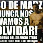1 minuto de SILENCIO ... #1AñoDelRamirazo #NoFueCornerrr http://t.co/pPm05ck5i4