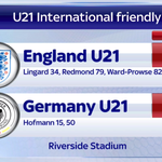 Its finished at the Riverside Stadium, and England U21s have beaten Germany U21s 3-2. #SSNHQ http://t.co/lvDmNHv9jL