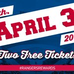 Thanks for following @Rangers today for our #RangersRewards lock down! RT to be entered to win 2 tix for 4/3 vs. Mets http://t.co/auGQSMTFDo