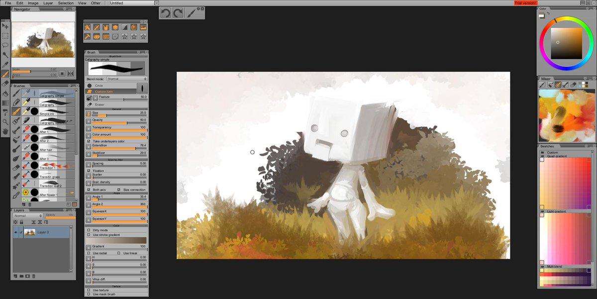 よさそう! RT @ymt3d 描き心地と軽さがかなり好みだったので即購入しました。約2400円の多機能ペイントソフト『Paintstorm Studio』 http://t.co/fDlBtOJ6sT 10分ラクガキ http://t.co/ObAC1CMZ46