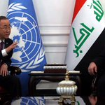 PM Al-Abadi met UN Secretary-General Ban Ki-moon and discussed developments in the country http://t.co/rAbXaGusEi http://t.co/SxW2SdYAJO