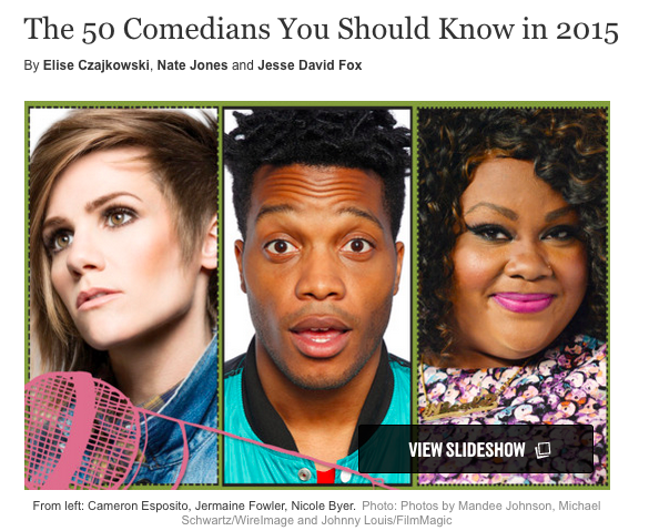 ".@Vulture's ""50 Comedians You Should Know in 2015"" filled w/@UCBTheatreNY & @ucbtla performers http://t.co/y9pqyjSFBj http://t.co/TVvbszTxoY"