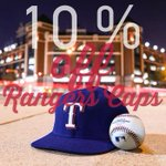 Save 10% on Rangers Caps at Rangers Merchandise stores on Apr 3 & 4. Just mention you saw the discount on @Rangers! http://t.co/xu8rsngO0P