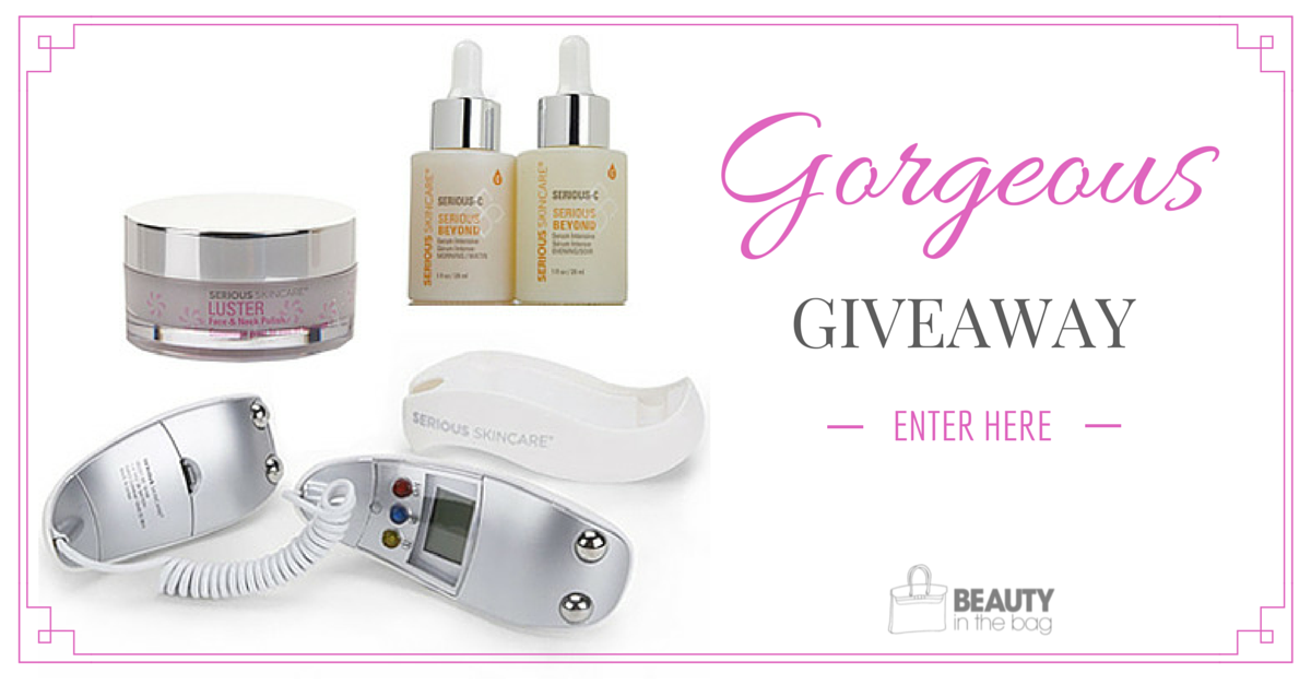 ALL NEW #GORGEOUSGIVEAWAY @seriousskincare Facial Toning System, Serum & Polish ($288) http://t.co/g4PUH1gUVt Pls RT http://t.co/60ldIoJdcB