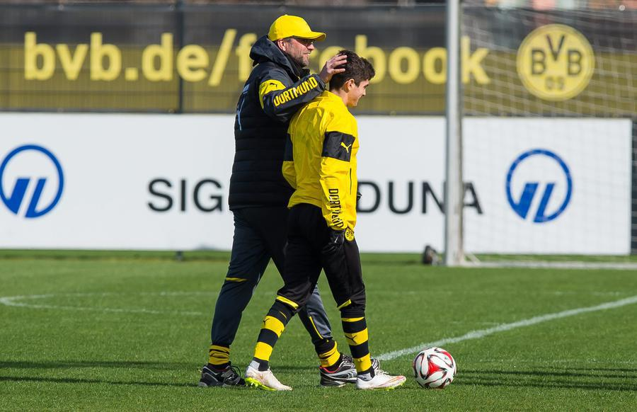 U.S. U17 Christian Pulisic trained with the #BVB first team again today http://t.co/v8UT9iLHiB
