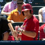 14 @HendrixBaseball grad Collin Radack made his Spring Training debut with the @Cardinals, 1-1 with a run scored! http://t.co/NmNbYbmpy8