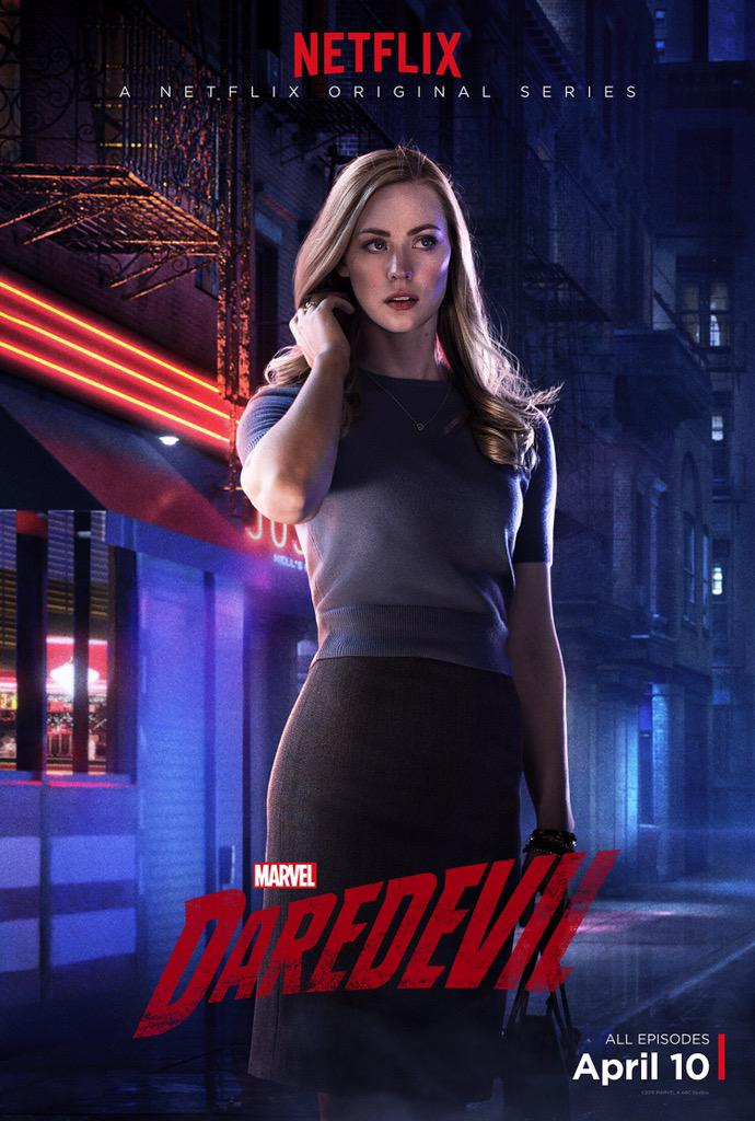 Brand new KAREN PAGE poster from Marvel's @Daredevil !! April 10, 2015. Only on Netflix! :) @Marvel  @netflix RT http://t.co/K6r5R60UPx