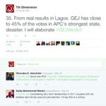#GEJVerdict I predicted LAG, they cursed. In a APCs power house GEJs deficit is just 160K votes! Thank me later. http://t.co/GJnSLFarqs