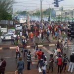 Protest in Enugu as well meaning Nigerians come to terms with the Massive Fraud called election in the South East. http://t.co/zzuKwCQPiG
