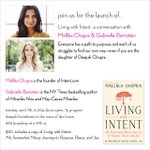 RT @Feferang: Join @mallikachopra x @GabbyBernstein on 4/7 @abchome for the launch of #LivingWithIntent Tix: http://t.co/QqzKD07sk3