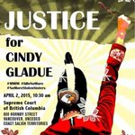 Pls. join us on Apr.2 in Vancouver and help demand #JusticeforCindyGladue ! #Indigenous #MMIW #YVR #VAW #cdnpoli http://t.co/4DWa3SFRwL