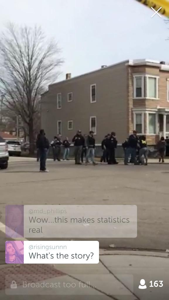 "This is the future of reporting. ""@PeterNickeas: LIVE on #Periscope: Homicide scene  https://t.co/ZDICsdOmUW"" http://t.co/kX0fiaZ6lS"