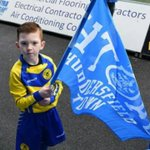 My son cole flag bearing and guard of honour last Saturday @htafcdotcom http://t.co/64Z3bvxP2I