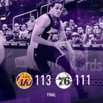 Clarkson (26 pts, 11 ast) reaches his first-ever double-double and hits the game-winning shot against the Sixers. http://t.co/bcNAqyAEpR