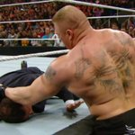 F-5 to @MICHAELCOLE!! F-5 to the cameraman!! #OhMyGOD!!! @BrockLesnar #RAW http://t.co/dZYCC7QSrq