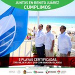 5 Playas Certificadas!! 3 @blueflagmexico 2 Bandera Blanca #ResultadosQueTransforman @PaulCarrillo2 @AytoCancun http://t.co/S5PPQSWMkJ