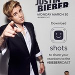 justinbieber: I want to see your reactions to the #BieberRoast on @shots tonight! http://t.co/4YDPnYzEcM