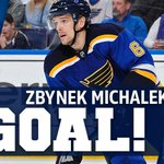 MICHALEK!!! Makes a save, scores a goal. No big deal. 1-1. #stlblues #OurBlues http://t.co/tdyz7o8m6s