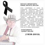 Mis condolencias a la familia del tigre sabanero Aniceto Molina. D.e.p http://t.co/Ct0RzM7U1s