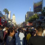 6-thousand excited fans on Hollywood Boulevard to watch Van Halen perform live for the Jimmy Kimmel show http://t.co/SrWGK1AhES