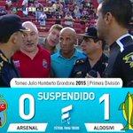 Partido suspendido: Arsenal 0 – Aldosivi 1. Arbitro: Ariel Penel. Estadio: Julio H. Grondona. http://t.co/ax9RQr2fm8