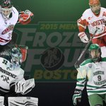 Congrats! @UNO_Hockey @TerrierHockey @UNDmhockey @FriarsHockey are #Boston bound. See you at #TDGarden #FrozenFour! http://t.co/BCn63rVLiy