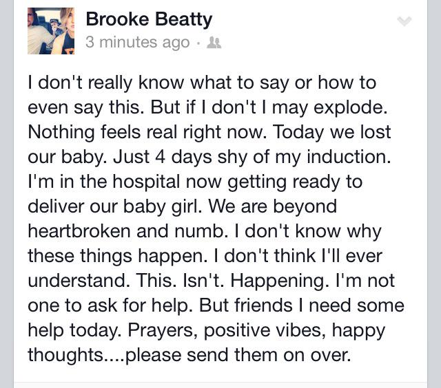 Prayers for my sister Brooke please. http://t.co/c7pesZkUsD