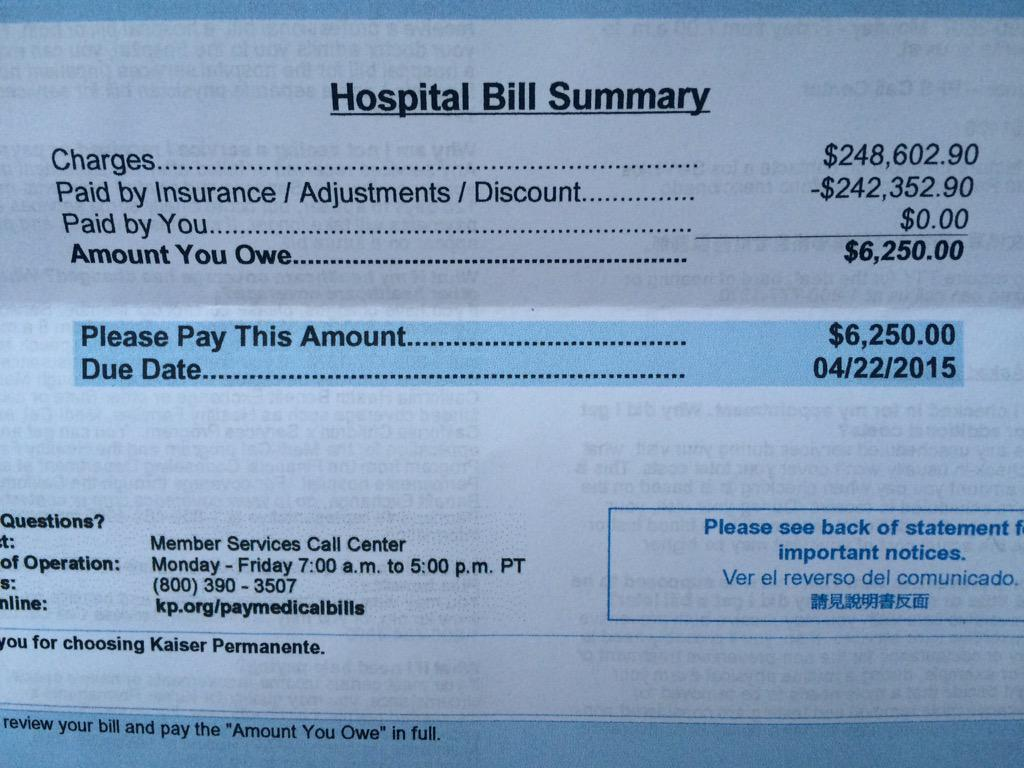 I have insurance thanks to Obamacare. This is my bill for one of my two NICU girls. Without ACA I would be bankrupt. http://t.co/AJNdQ71J4o