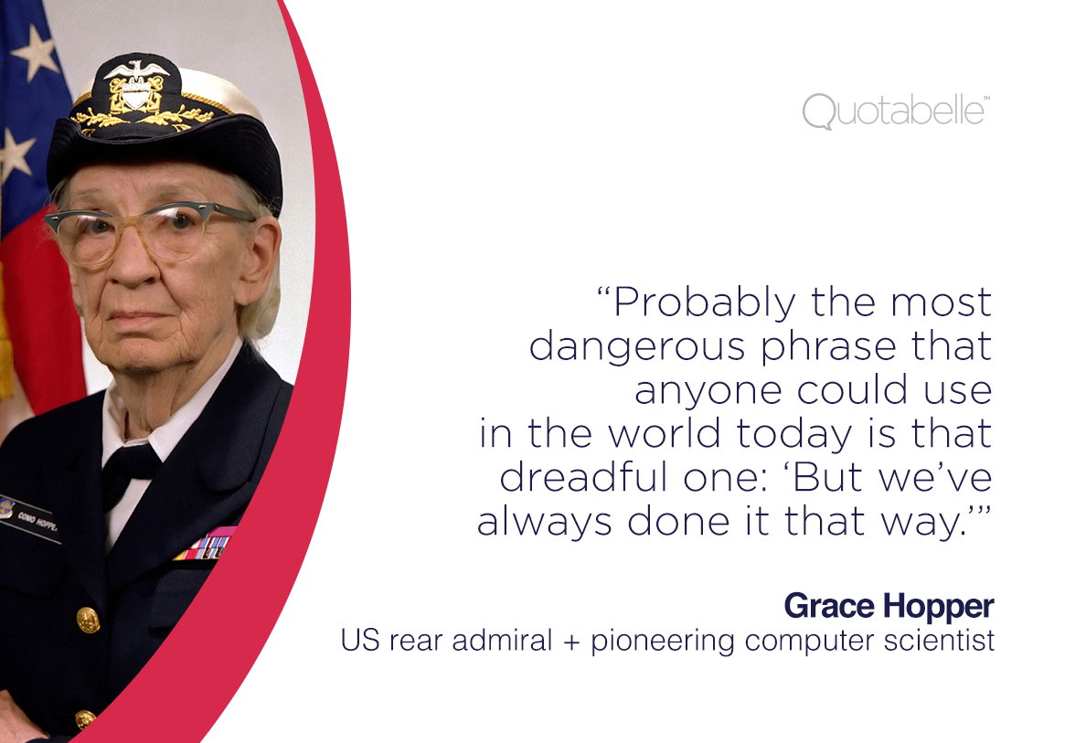#MondayMuse: Trailblazing Technologist + Rear Admiral, #Thankyou Grace Hopper. @Quotabelle http://t.co/RVM0F0Fx78 http://t.co/HKYmpiWUQE