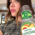 Quick snack break with my @Tropicana Tropical Green juice #FarmstandGreen #fruit #veggies #ad