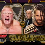 TONIGHT: @BrockLesnar battles the NEW World Hvt. Champion @WWERollins LIVE on @WWE #RAW on @USA_Network! http://t.co/9B0YaqFxaM
