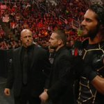"""""""Im going to give you your rematch ... just NOT tonight!"""" - @WWERollins BAD MOVE!! LESNAR IS RAGING!! #RAW http://t.co/oArfi3Xbc1"""