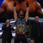 The CHAMP is HERE!! @WWERollins @WWEJJSecurity #RAW http://t.co/pOgegOBK7R