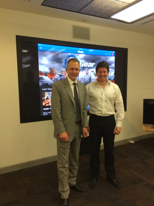 With Stan CEO Mike Sneesby, hearing about this fast growing Aussie owned video on demand service #commsau http://t.co/KC8Y0Srvxd