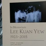Want to find out more about Mr #LeeKuanYew? A memorial exhibition is going on till Apr 26 http://t.co/jUzSmCAG4R http://t.co/GuKta7ZYVh