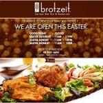 EASTER TRADING HOURS! Call us to book a table! @140Perth #brotzeitwa #140Perth #perthfood #pertheats #perth http://t.co/4d1Dc8tGQW
