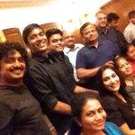 RT @anavenkat: AGS #Anegan success family getTogether. Hosted by @omdop &Latha. @dhanushkraja @Jharrisjayaraj @archanakalpathi