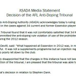 """""""What happened at Essendon in 2012 was, in my opinion, absolutely and utterly disgraceful""""- ASADA CEO, Ben McDevitt http://t.co/DrejLzRTIw"""