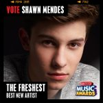 Vote for me for best new artist at #RDMAs here or tweet #ShawnMendes #TheFreshest to vote ! http://t.co/cSO89PS3Ri http://t.co/pqckz0yiNP