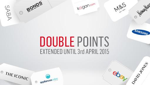 Shop through our OnlineMall until April 3 to earn double QantasPoints! *Conditions apply.