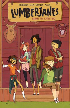 The first #Lumberjanes collection from @boomstudios is out in bookstores today!  http://t.co/GDVFm7cnnr http://t.co/ZcKViF4dK7