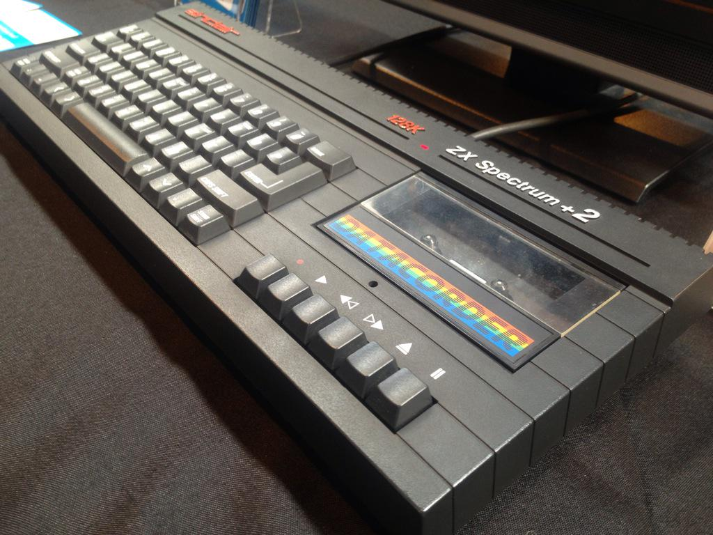 The Sinclair ZX Spectrum +2 with built in tape drive. Now your games will only fail to load 40% of the time!! ;) http://t.co/iLKLInDTXI