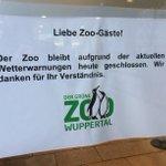 Der Zoo in Wuppertal bleibt heute geschlossen #Sturm #Niklas http://t.co/Lj2Z0AEMHj