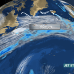 The 190mph #jetstream is giving USA to UK planes a good shove. A flight from Newark to Heathrow landed 70mins early! http://t.co/i1uwGcuqMM