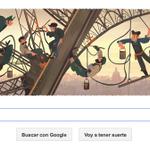 Hoy Google homenajea a la torre Eiffel en su 126º aniversario. Precioso Doodle :-) http://t.co/pD4J0yXDKQ