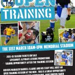 Open training session starting at 10:00am today! http://t.co/XjBXx88ebB