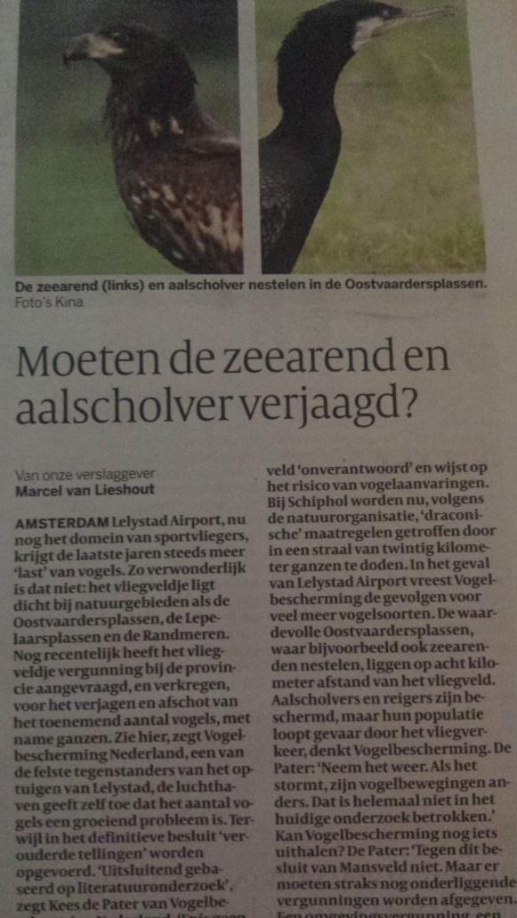 Een prachtig natuurgebied creëren en dan de vogels afschieten omdat t vliegveld ernaast moet uitbreiden. #Lelystad http://t.co/cFrGttjppk