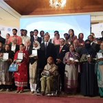 """Minister Ahsan Iqbal with winners of #Microentrepreneurship awards - """"This is the true face of #Pakistan"""" @THEPPAF http://t.co/o6SQcqtB0Q"""