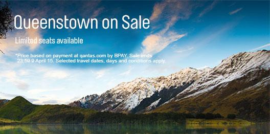 Queenstown, where adventure meets luxury, on sale now from $199* economy one way from Syd/Bris