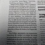 """Corta información de @CasaReal y el Lunes Santo en @Viva_Sevilla_ SM estuvo con """"su"""" @Hdad_SanPablo y tocó martillo http://t.co/yeF8GW89Di"""